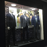 DBS Menswear window display 2