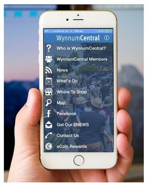 WynnumCentral app on iPhone 6