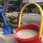 bucket and spade sculpture