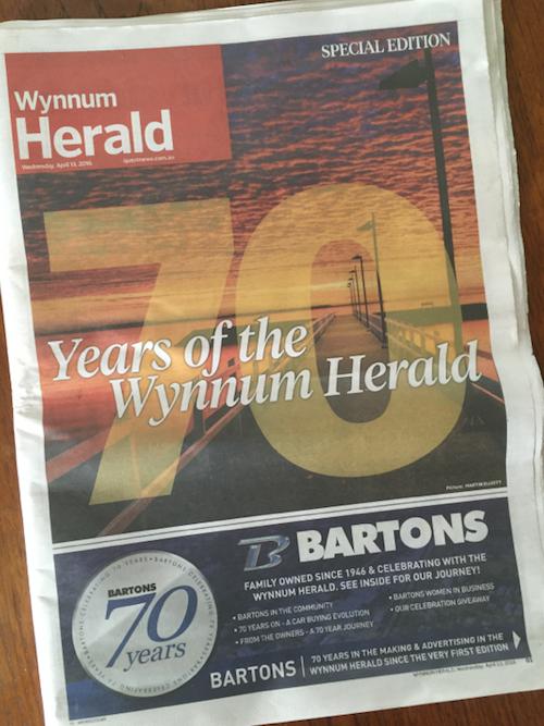 Photo of Wynnum Herald celebrates 70 years