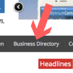 business directory menu