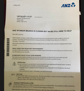 anz closure letter