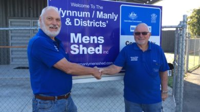Photo of Wynnum Manly Mens Shed gets a new president