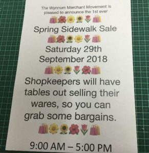 spring sidewalk sale flyer