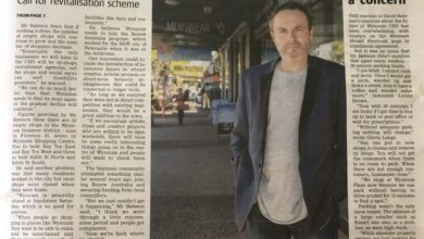 Photo of Wynnum Herald covers shop vacancy rate issue