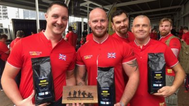 Photo of Wynnum coffee company serving special blend at Invictus Games