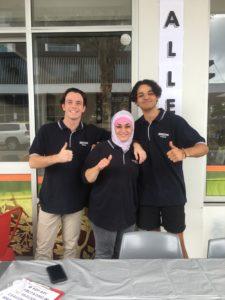 Nick, Mary and Curtis at KebabZone