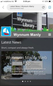 wynnum manly app on phone